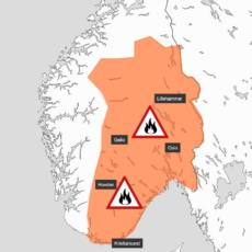 Skogbrannfaren har økt, og er nå meget stor Østafjells.
