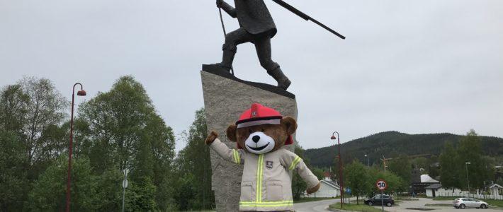 Bjørnis på rundreise i Midt-Hedmark brann- og redningsvesen IKS