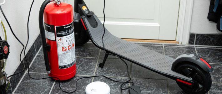 Risiko for brann ved lading av el-sparkesykler