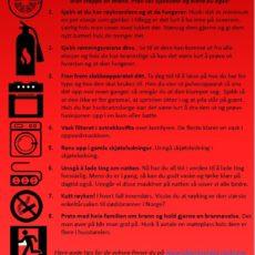 Er boligen din godt nok sikret mot brann? Prøv sjekklisten vår